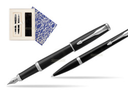 Parker Urban Black Cab CT Fountain Pen + Ballpoint Pen in a Gift Box T2016  Universal Crystal Blue