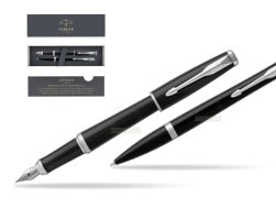 Parker Urban Black Cab CT Fountain Pen + Ballpoint Pen in a Gift Box T2016