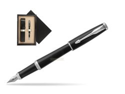 Parker Urban Black Cab CT Fountain Pen   single wooden box  Wenge Single Ecru