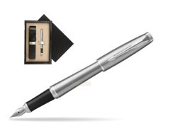 Parker Urban Metro Metallic CT Fountain Pen   single wooden box  Wenge Single Ecru