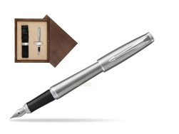 Parker Urban Metro Metallic CT Fountain Pen  in single wooden box  Wenge Single Ecru