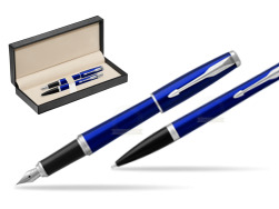 Parker Urban Nightsky Blue CT T2016 Fountain Pen + Ballpoint Pen in a Gift Box  in classic box  pure black