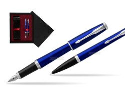 Parker Urban Nightsky Blue CT T2016 Fountain Pen + Ballpoint Pen in a Gift Box  double wooden box Black Double Maroon