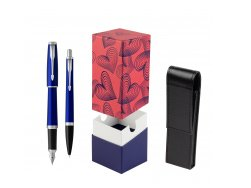 Parker Urban Nightsky Blue CT T2016 Fountain Pen + Ballpoint Pen in a Gift Box  StandUP Hot Hearts