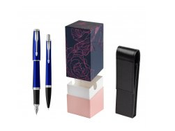 Parker Urban Nightsky Blue CT T2016 Fountain Pen + Ballpoint Pen in a Gift Box in gift box StandUP Roses