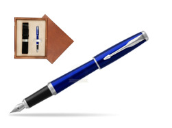 Parker Urban Nightsky Blue CT Fountain Pen   single wooden box  Mahogany Single Ecru