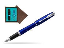 Parker Urban Nightsky Blue CT Fountain Pen  in single wooden box  Wenge Single Turquoise