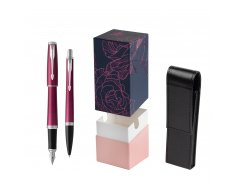 Parker Urban Vibrant Magenta CT Fountain Pen + Ballpoint Pen in a Gift Box  StandUP Roses