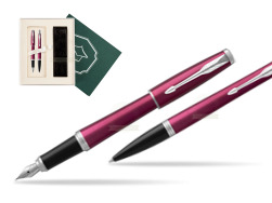 "Parker Urban Vibrant Magenta CT Fountain Pen + Ballpoint Pen in a Gift Box  ""Science"""