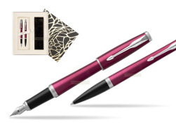 Parker Urban Vibrant Magenta CT Fountain Pen + Ballpoint Pen in a Gift Box in Standard Gift Box