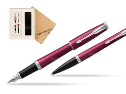 Parker Urban Vibrant Magenta CT Fountain Pen + Ballpoint Pen in a Gift Box in Standard 2