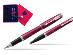 Parker Urban Vibrant Magenta CT Fountain Pen + Ballpoint Pen in a Gift Box  Love