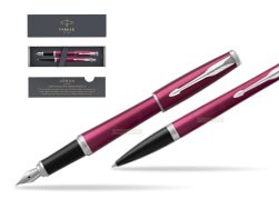 Parker Urban Vibrant Magenta CT Fountain Pen + Ballpoint Pen in a Gift Box