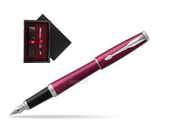 Parker Urban Vibrant Magenta CT Fountain Pen   single wooden box  Black Single Maroon