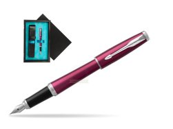 Parker Urban Vibrant Magenta CT Fountain Pen   single wooden box  Black Single Turquoise