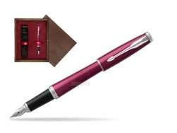 Parker Urban Vibrant Magenta CT Fountain Pen   single wooden box  Wenge Single Maroon