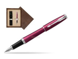 Parker Urban Vibrant Magenta CT Fountain Pen   single wooden box  Wenge Single Ecru