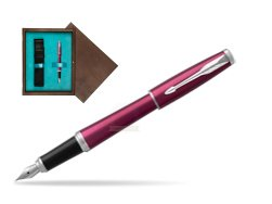 Parker Urban Vibrant Magenta CT Fountain Pen   single wooden box  Wenge Single Turquoise