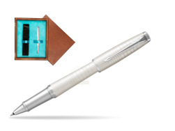 Parker Urban Premium Pearl Metal CT Rollerball Pen in single wooden box  Mahogany Single Turquoise