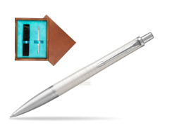 Parker Urban Premium Pearl Metal CT Ballpoint Pen in single wooden box  Mahogany Single Turquoise