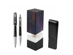 Parker Urban Premium New Ebony Metal CT Fountain Pen + Ballpoint Pen in a Gift Box  StandUP Crazy line