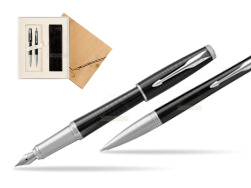 Parker Urban Premium New Ebony Metal CT Fountain Pen + Ballpoint Pen in a Gift Box in Standard 2 Gift Box