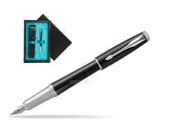 Parker Urban Premium New Ebony Metal CT Fountain Pen   single wooden box  Black Single Turquoise