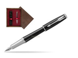 Parker Urban Premium New Ebony Metal CT Fountain Pen   single wooden box  Wenge Single Maroon