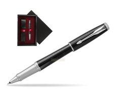 Parker Urban Premium Ebony Metal CT Rollerball Pen  single wooden box  Black Single Maroon