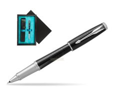 Parker Urban Premium Ebony Metal CT Rollerball Pen  single wooden box  Black Single Turquoise