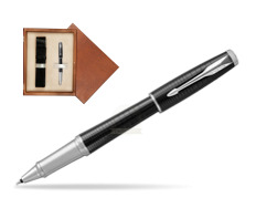 Parker Urban Premium Ebony Metal CT Rollerball Pen  single wooden box  Mahogany Single Ecru