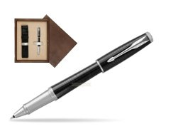 Parker Urban Premium Ebony Metal CT Rollerball Pen  single wooden box  Wenge Single Ecru