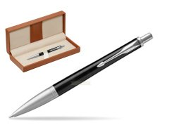 Parker Urban Premium Ebony Metal CT Ballpoint Pen  in classic box brown