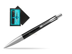Parker Urban Premium Ebony Metal CT Ballpoint Pen  single wooden box  Black Single Turquoise