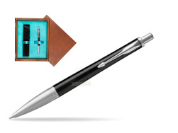 Parker Urban Premium Ebony Metal CT Ballpoint Pen  single wooden box  Mahogany Single Turquoise