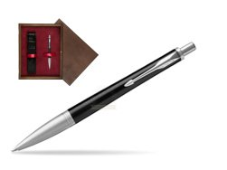 Parker Urban Premium Ebony Metal CT Ballpoint Pen  single wooden box  Wenge Single Maroon