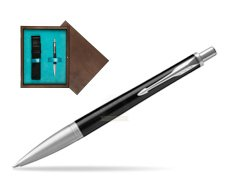 Parker Urban Premium Ebony Metal CT Ballpoint Pen  single wooden box  Wenge Single Turquoise