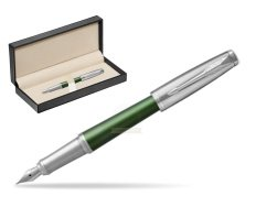 Parker Urban Premium Green CT Fountain Pen   in classic box  pure black