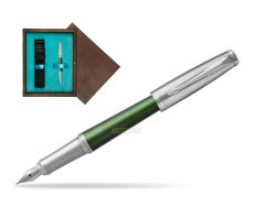 Parker Urban Premium Green CT Fountain Pen   single wooden box  Wenge Single Turquoise