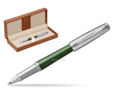 Parker Urban Premium Green CT Rollerball Pen  in classic box brown
