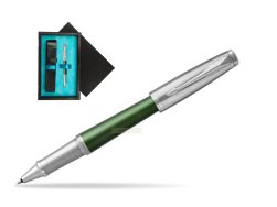 Parker Urban Premium Green CT Rollerball Pen  single wooden box  Black Single Turquoise