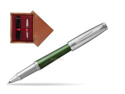 Parker Urban Premium Green CT Rollerball Pen  single wooden box Mahogany Single Maroon