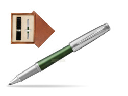 Parker Urban Premium Green CT Rollerball Pen  single wooden box  Mahogany Single Ecru