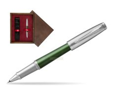 Parker Urban Premium Green CT Rollerball Pen  single wooden box  Wenge Single Maroon