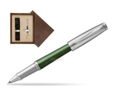 Parker Urban Premium Green CT Rollerball Pen  single wooden box  Wenge Single Ecru