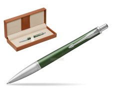 Parker Urban Premium Green CT Ballpoint Pen  in classic box brown
