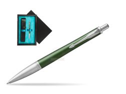 Parker Urban Premium Green CT Ballpoint Pen  single wooden box  Black Single Turquoise