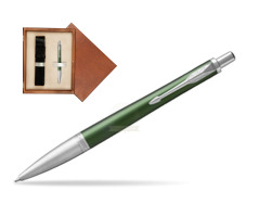 Parker Urban Premium Green CT Ballpoint Pen  single wooden box  Mahogany Single Ecru