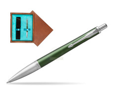 Parker Urban Premium Green CT Ballpoint Pen  single wooden box  Mahogany Single Turquoise