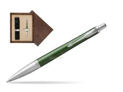 Parker Urban Premium Green CT Ballpoint Pen  single wooden box  Wenge Single Ecru